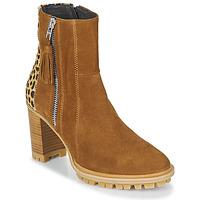 鞋子 女士 短靴 Philippe Morvan LOKS V1 VELOURS CAMEL/LEOP 棕色 / Leopard