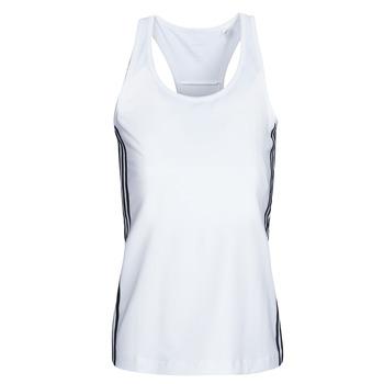 衣服 女士 无领短袖套衫/无袖T恤 adidas Performance 阿迪达斯运动训练 W D2M 3S TANK 白色