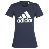 衣服 女士 短袖体恤 adidas Performance 阿迪达斯运动训练 W BOS CO TEE 蓝色