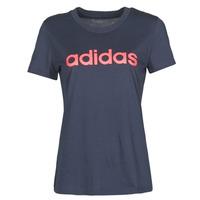 衣服 女士 短袖体恤 adidas Performance 阿迪达斯运动训练 W E LIN SLIM T 黑色