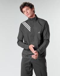 衣服 男士 卫衣 adidas Performance 阿迪达斯运动训练 OWN THE RUN JKT 黑色