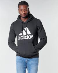 衣服 男士 卫衣 adidas Performance 阿迪达斯运动训练 MH BOS PO FL 黑色
