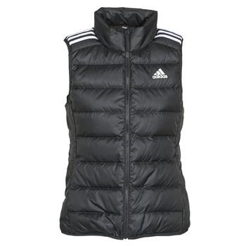 衣服 女士 羽绒服 adidas Performance 阿迪达斯运动训练 W ESS DOWN VES 黑色