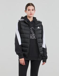 衣服 男士 羽绒服 adidas Performance 阿迪达斯运动训练 ESS DOWN VEST 黑色