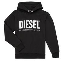衣服 男孩 卫衣 Diesel 迪赛尔 SDIVISION LOGO 黑色