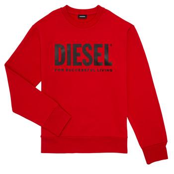 衣服 男孩 卫衣 Diesel 迪赛尔 SCREWDIVISION LOGO 红色
