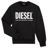 衣服 男孩 卫衣 Diesel 迪赛尔 SCREWDIVISION LOGO 黑色