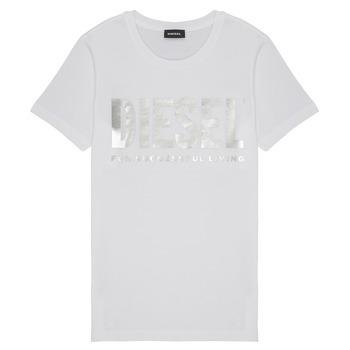 衣服 女孩 短袖体恤 Diesel 迪赛尔 TSILYWX 白色