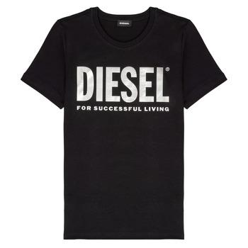 衣服 女孩 短袖体恤 Diesel 迪赛尔 TSILYWX 黑色