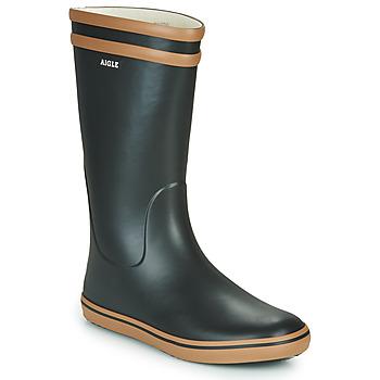 鞋子 女士 雨靴 Aigle MALOUINE 黑色 / 驼色