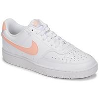 鞋子 女士 球鞋基本款 Nike 耐克 COURT VISION LOW 白色 / 玫瑰色