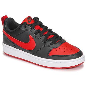 鞋子 儿童 球鞋基本款 Nike 耐克 COURT BOROUGH LOW 2 GS 黑色 / 红色