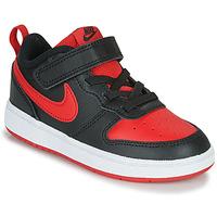 鞋子 儿童 球鞋基本款 Nike 耐克 COURT BOROUGH LOW 2 TD 黑色