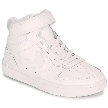 鞋子 儿童 球鞋基本款 Nike 耐克 COURT BOROUGH MID 2 PS 白色