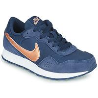 鞋子 儿童 球鞋基本款 Nike 耐克 MD VALIANT GS 蓝色 / 铜色