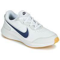 鞋子 男孩 球鞋基本款 Nike 耐克 VARSITY LEATHER GS 白色 / 蓝色