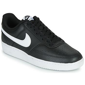 鞋子 男士 球鞋基本款 Nike 耐克 COURT VISION LOW 黑色 / 白色