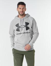衣服 男士 卫衣 Under Armour 安德玛 UA RIVAL FLEECE BIG LOGO HD 灰色 / 米色