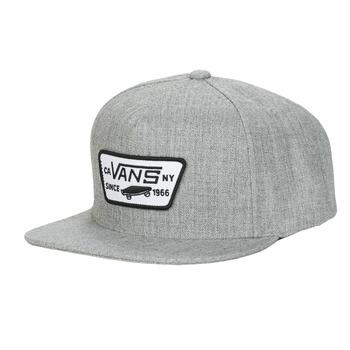 纺织配件 男士 鸭舌帽 Vans 范斯 FULL PATCH SNAPBACK 灰色