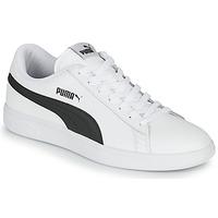 鞋子 男士 球鞋基本款 Puma 彪马 SMASH 白色 / 黑色