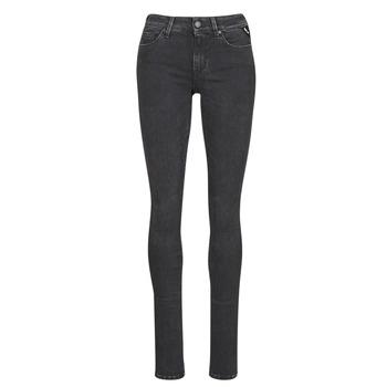 衣服 女士 紧身牛仔裤 Replay LUZ / HYPERFLEX / RE-USED 黑色