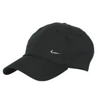 纺织配件 鸭舌帽 Nike 耐克 U NSW H86 METAL SWOOSH CAP 黑色 / 银灰色
