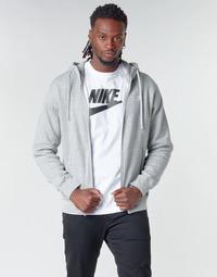 衣服 男士 卫衣 Nike 耐克 M NSW CLUB HOODIE FZ BB 灰色