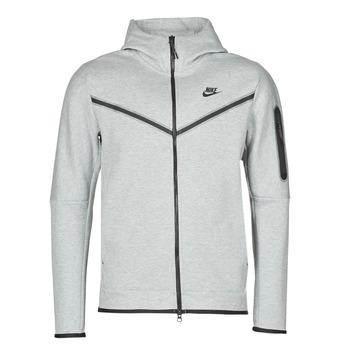 衣服 男士 运动款外套 Nike 耐克 M NSW TCH FLC HOODIE FZ WR 灰色 / 黑色