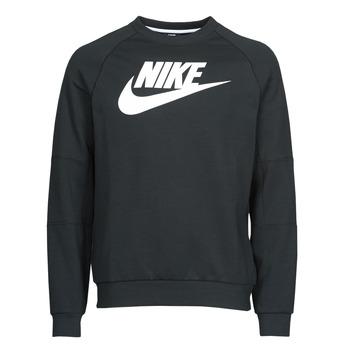 衣服 男士 卫衣 Nike 耐克 M NSW MODERN CRW FLC HBR 黑色 / 白色
