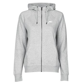 衣服 女士 卫衣 Nike 耐克 W NSW ESSNTL HOODIE FZ FLC 灰色