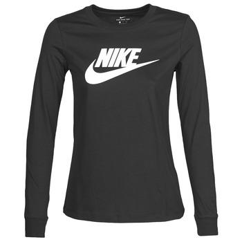 衣服 女士 长袖T恤 Nike 耐克 W NSW TEE ESSNTL LS ICON FTR 黑色