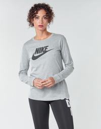 衣服 女士 长袖T恤 Nike 耐克 W NSW TEE ESSNTL LS ICON FTR 灰色