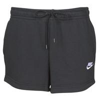 衣服 女士 短裤&百慕大短裤 Nike 耐克 W NSW ESSNTL SHORT FT 黑色