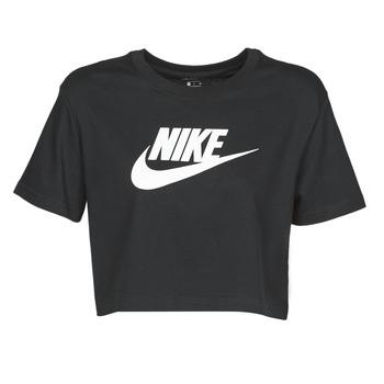 衣服 女士 短袖体恤 Nike 耐克 W NSW TEE ESSNTL CRP ICN FTR 黑色