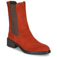 鞋子 女士 短筒靴 Regard DAMGAN V2 VELOURS CHATAIGNE 红色
