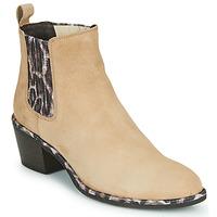 鞋子 女士 短靴 Regard NOISY V7 VELOURS SAFRAN 米色