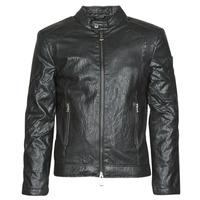 衣服 男士 皮夹克/ 人造皮革夹克 Guess PU LEATHER BIKER 黑色
