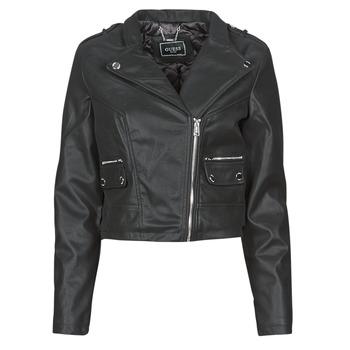 衣服 女士 皮夹克/ 人造皮革夹克 Guess FRANCES JACKET 黑色