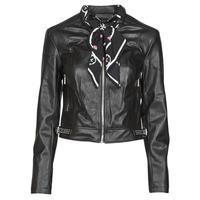 衣服 女士 皮夹克/ 人造皮革夹克 Guess NEW JONE JACKET 黑色
