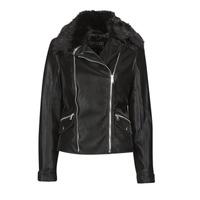 衣服 女士 皮夹克/ 人造皮革夹克 Guess CANTARA 黑色