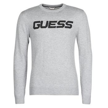 衣服 男士 羊毛衫 Guess LOGO SWEATER 灰色