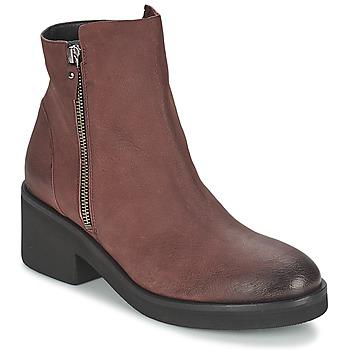鞋子 女士 短筒靴 Vic 维克 ASCILLE 波尔多红