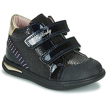 鞋子 女孩 高帮鞋 Pablosky 87529 海蓝色