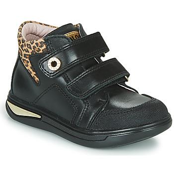 鞋子 女孩 高帮鞋 Pablosky 490611 黑色 / Leopard