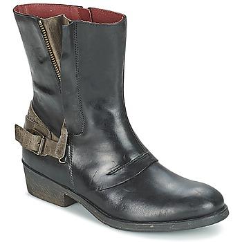 鞋子 女士 短筒靴 Kickers AMERIKO 黑色 / 灰色
