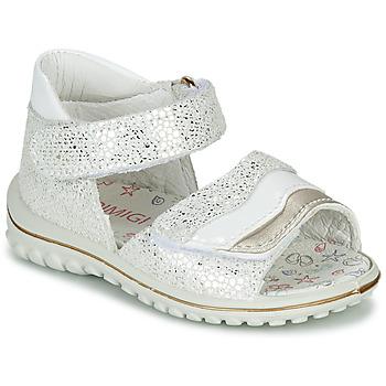 鞋子 女孩 凉鞋 Primigi  白色 / 银灰色