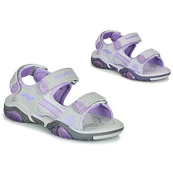 鞋子 儿童 运动凉鞋 Kangaroos Sandalshine 灰色 / 紫罗兰
