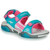 鞋子 儿童 运动凉鞋 Kangaroos Sandalshine 蓝色 / 玫瑰色