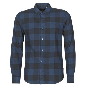 衣服 男士 长袖衬衫 Only & Sons ONSGUDMUND 海蓝色 / 黑色