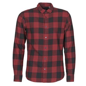 衣服 男士 长袖衬衫 Only & Sons ONSGUDMUND 波尔多红